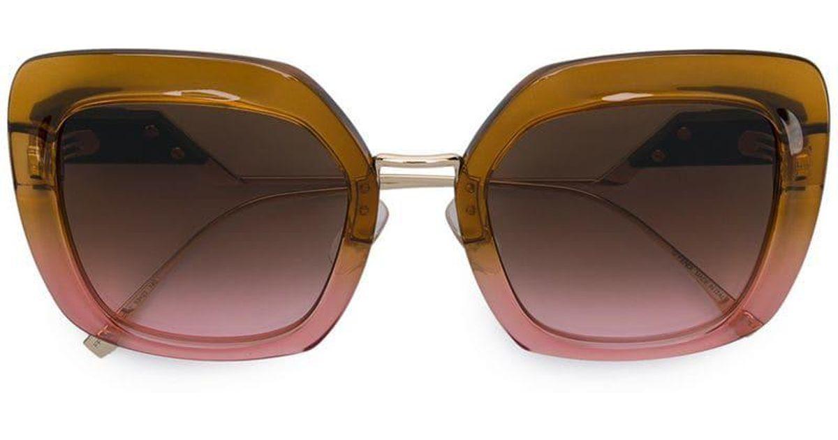 667e253f86 Gafas de sol Tropical Shine Fendi de color Amarillo - Lyst
