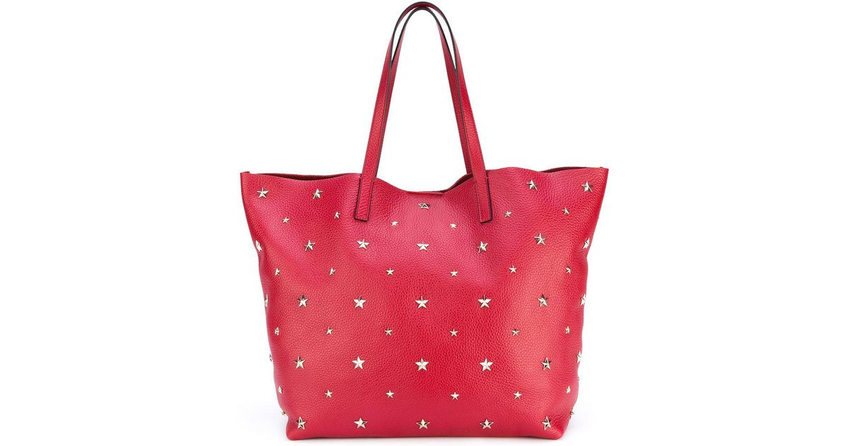 Lyst - RED Valentino Star Studded Shopping Bag in Red 5c0f8ae5935