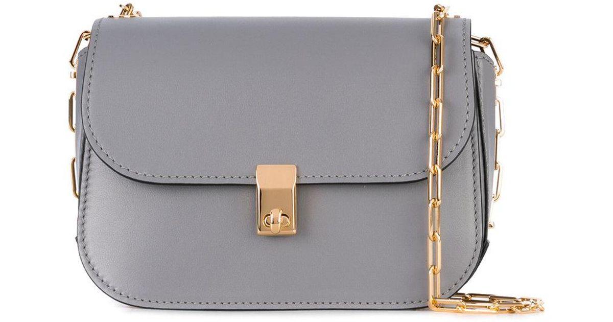 Lyst - Valentino Garavani All Over Chain Shoulder Bag in Gray