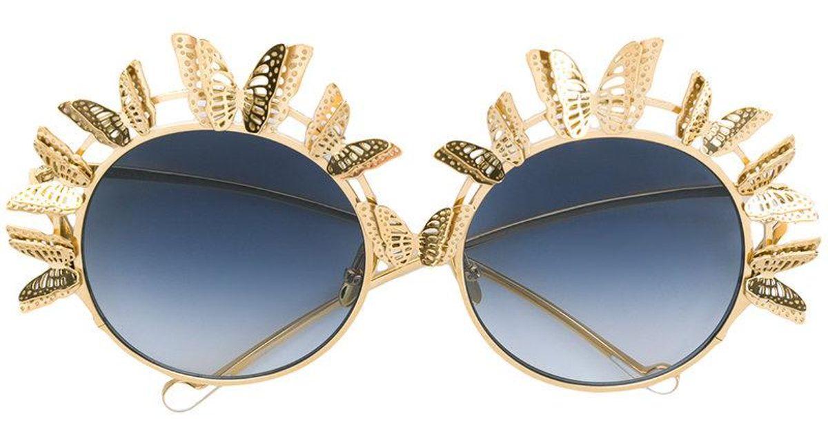 9c691bb675 Anna Karin Karlsson The Butterfly Sunglasses in Metallic - Lyst