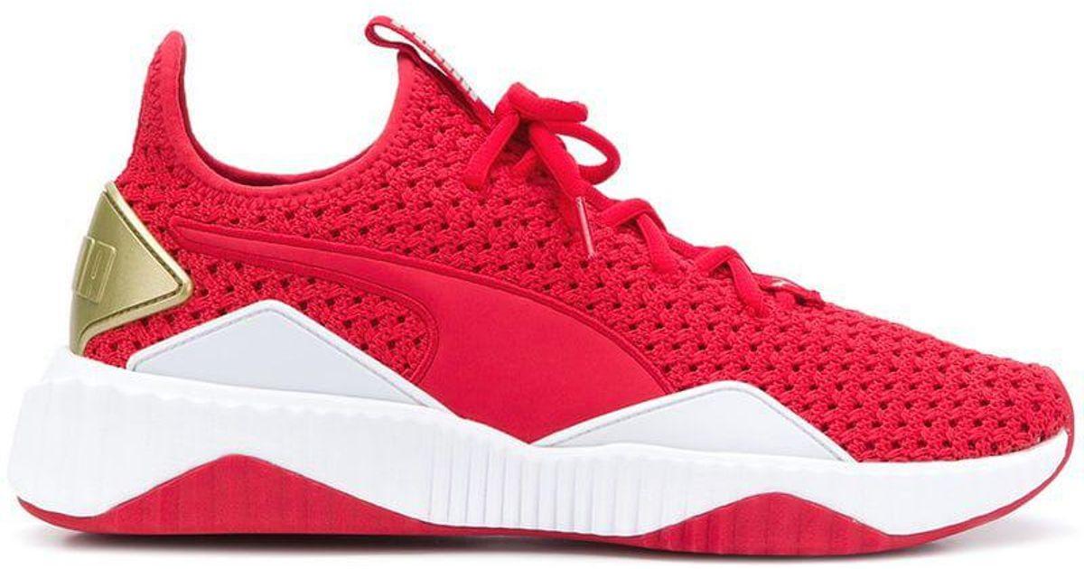 PUMA Red X Selena Gomez Defy Varsity Sneakers