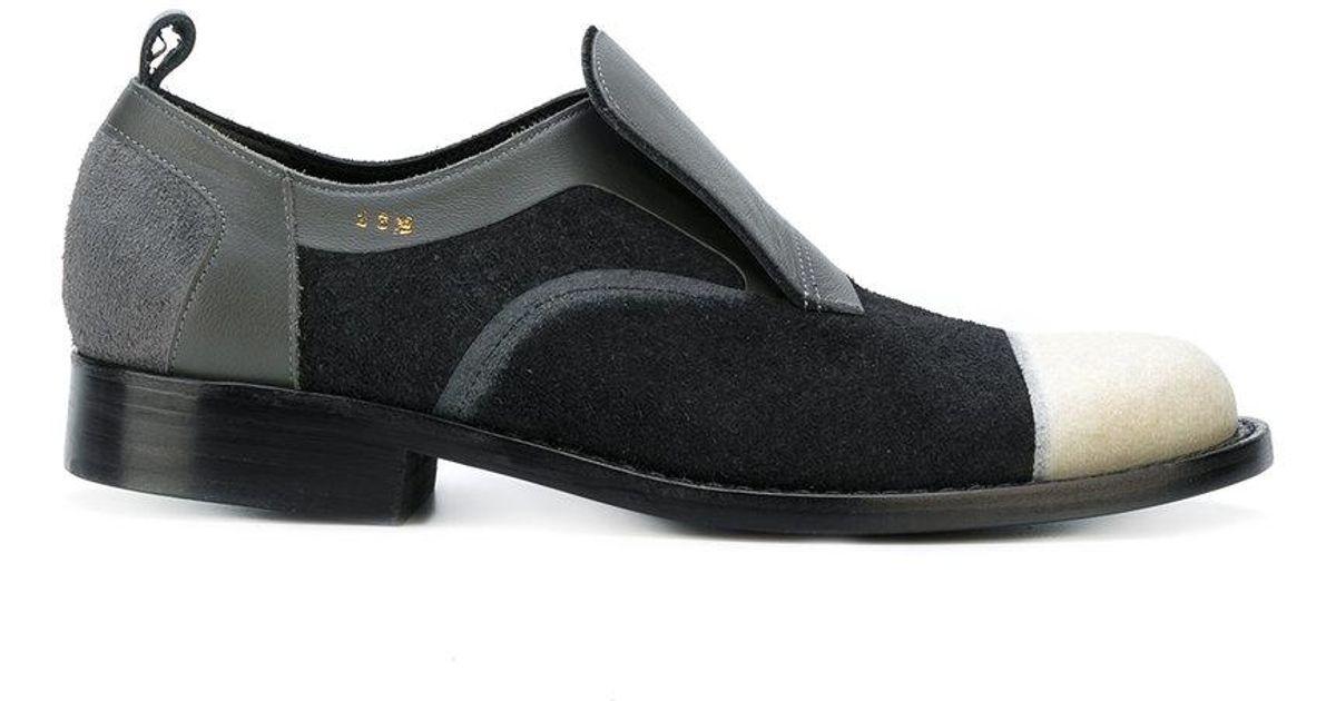 8b00c27f1eb4fd Comme Des Garçons Contrast Lace Up Shoes in Black for Men - Lyst
