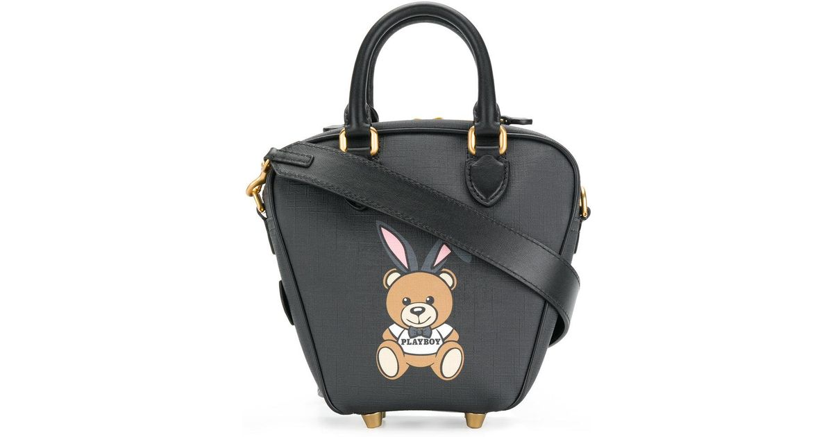 ready to bear playboy tote bag - Black Moschino Clearance Online Ebay mxO5FtHDG