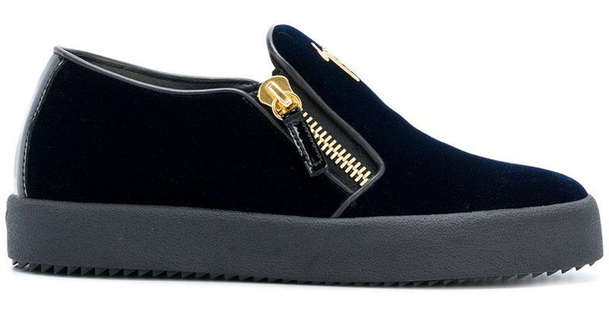 c5f04aee8182c Giuseppe Zanotti Eve Laceless Sneakers in Blue - Lyst