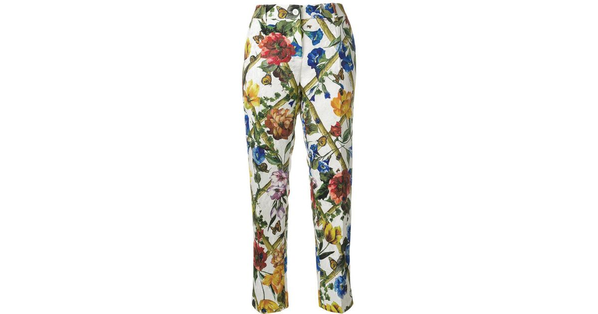 Dolce & Gabbana brocade cropped trousers Free Shipping Perfect Outlet Store Online Safe Payment dC7rHZG