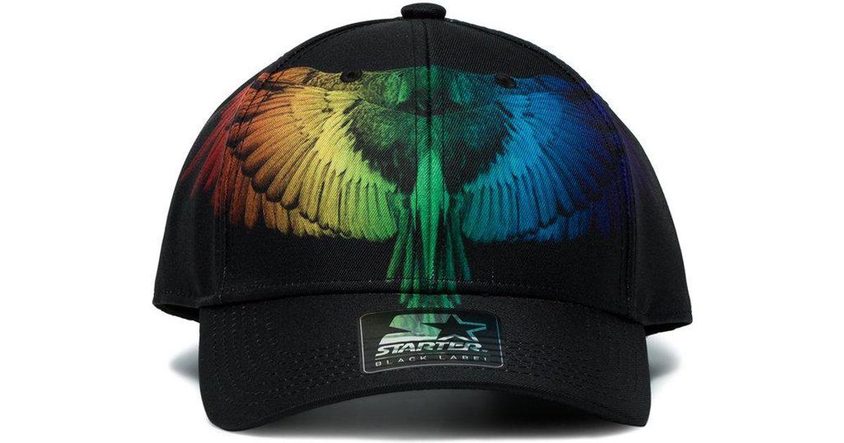 Marcelo Burlon Starter Rainbow Bird Cap in Black for Men - Lyst 4a1c06c54977