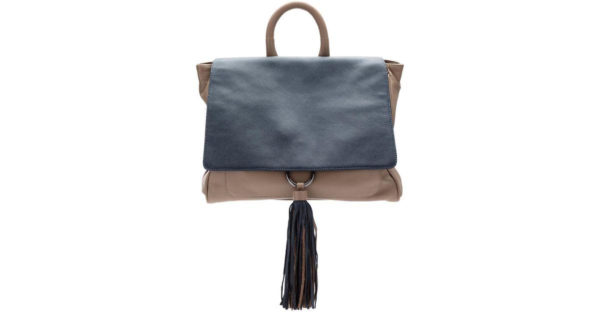 leather panelled backpack - Grey Mara Mac BKHwUri