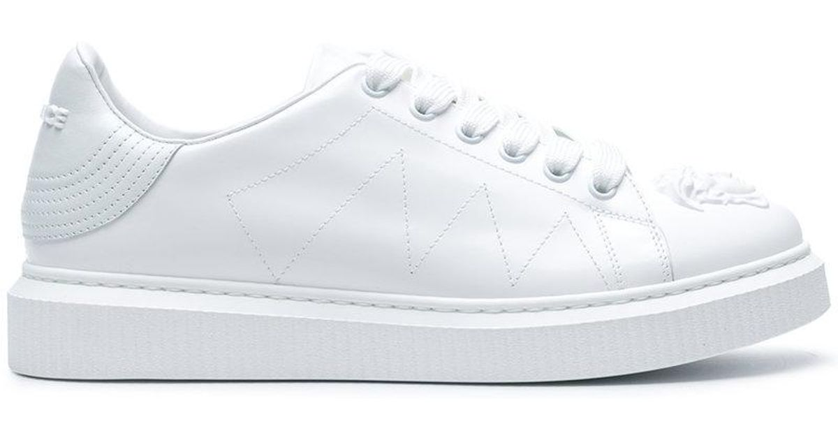 Versace Leather Nyx Low Top Sneaker in