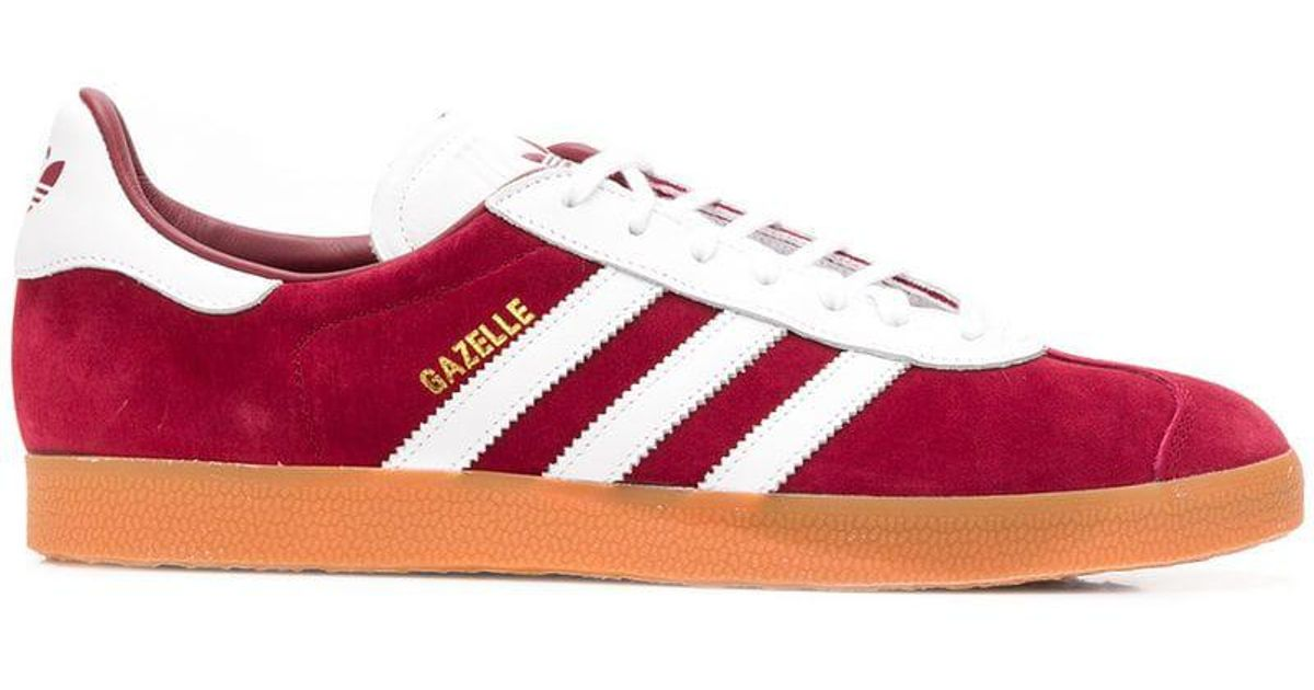Lyst - Adidas Originals Gazelle Sneakers in Red for Men 5f832c1bd