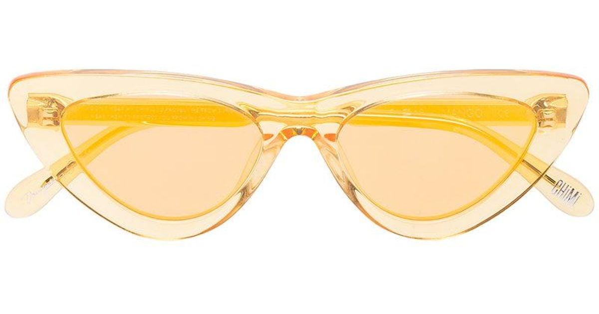 Tiger Printed Cat-eye Acetate Sunglasses - Yellow Chimi Eyewear e8Ols
