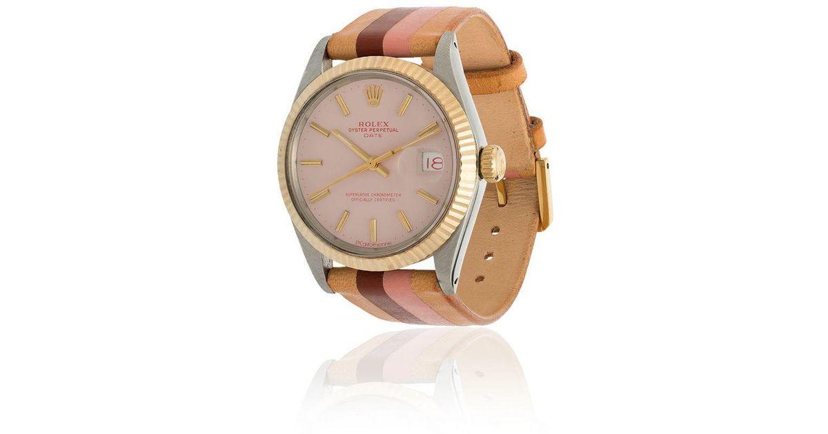 La Californienne , Multicolor Shell Stone 34 Mm Rolex Watch , Lyst