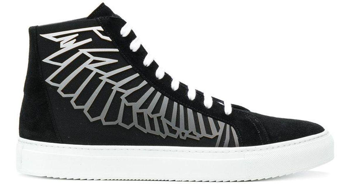 angel wings hi-top sneakers - Black Marcelo Burlon H06hs