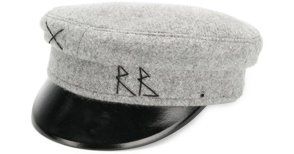 Lyst - Ruslan Baginskiy Baker Boy Hat in Gray 652334b807e