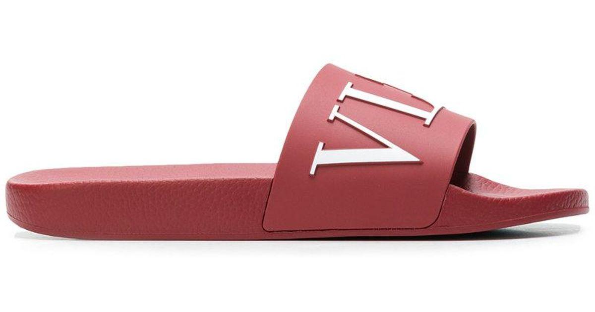 Valentino Logo print slides e3I5BOHfi