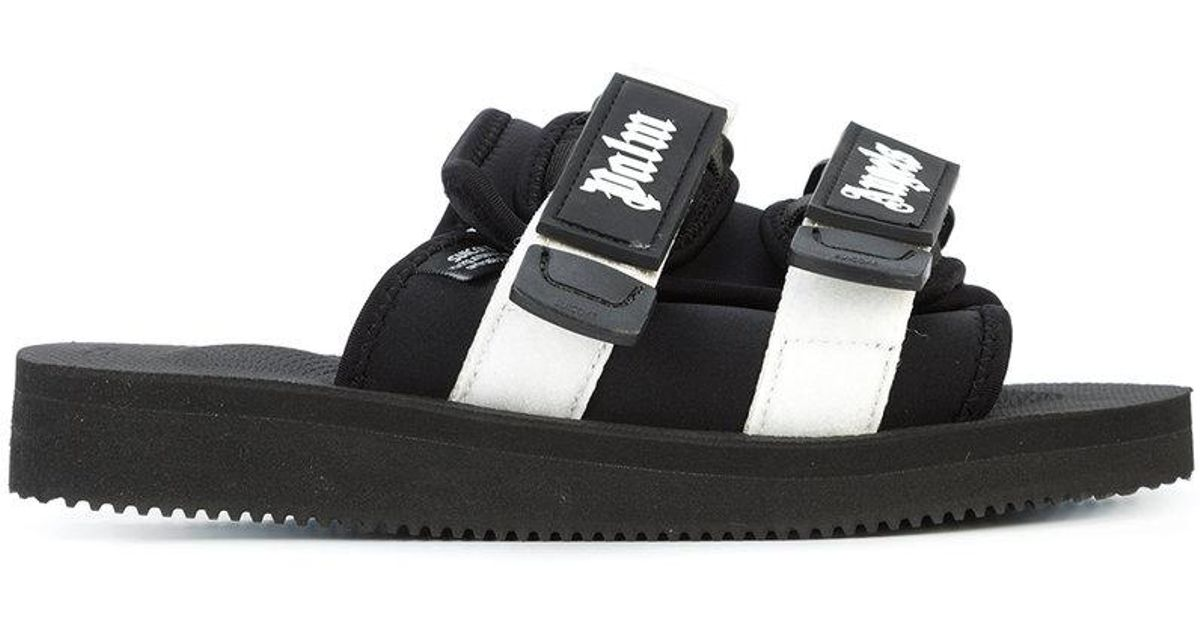 76a01f2885d Palm Angels X Suicoke Slides in Black for Men - Lyst