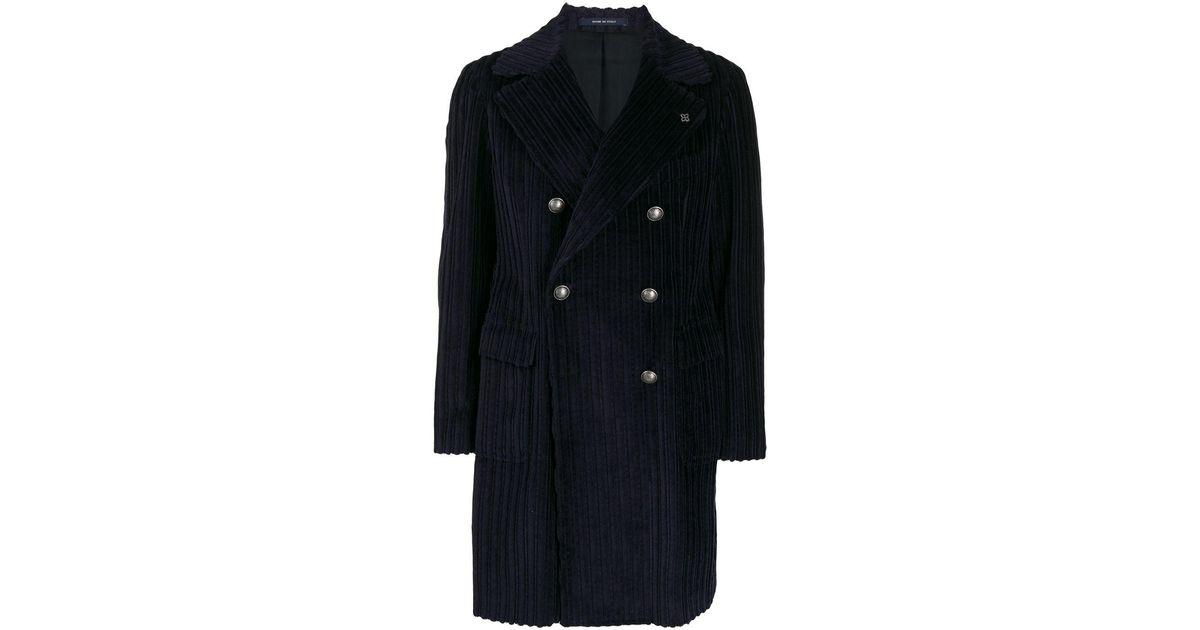Gerippter Mantel In Blue Tagliatore Herren Für T5FJcl1uK3