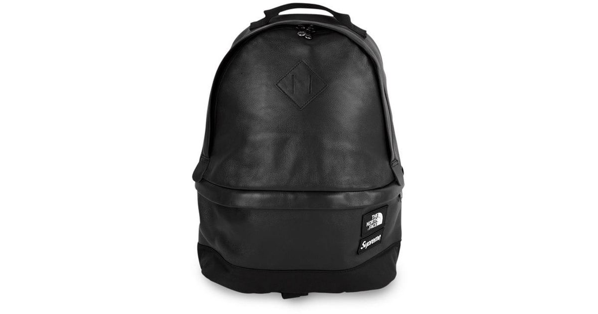 Supreme X The North Face Leather Backpack In Black For Men - Lyst