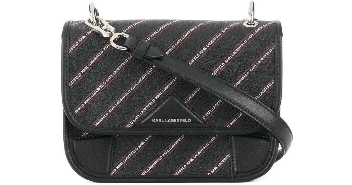 striped logo shoulder bag - Black Karl Lagerfeld TQP8JCxyPF