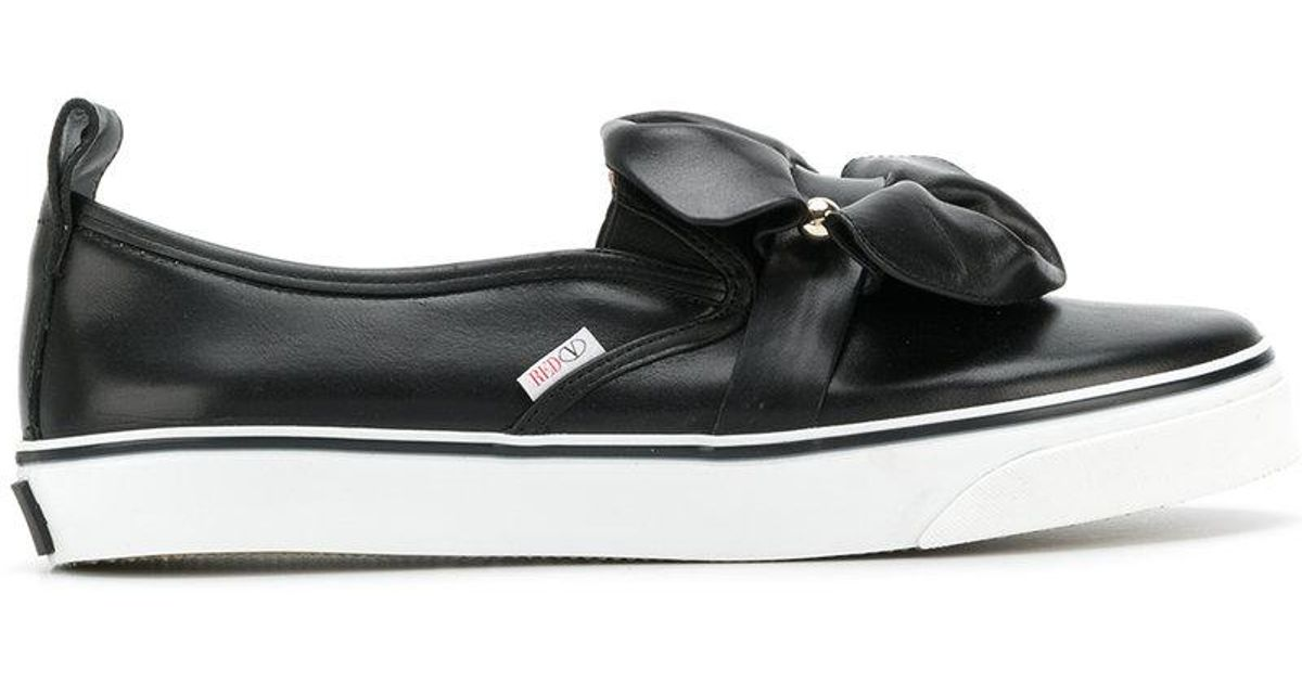 Cheap Sale Latest RED Valentino Pierced bow sneakers Buy Cheap Best Seller hlafF