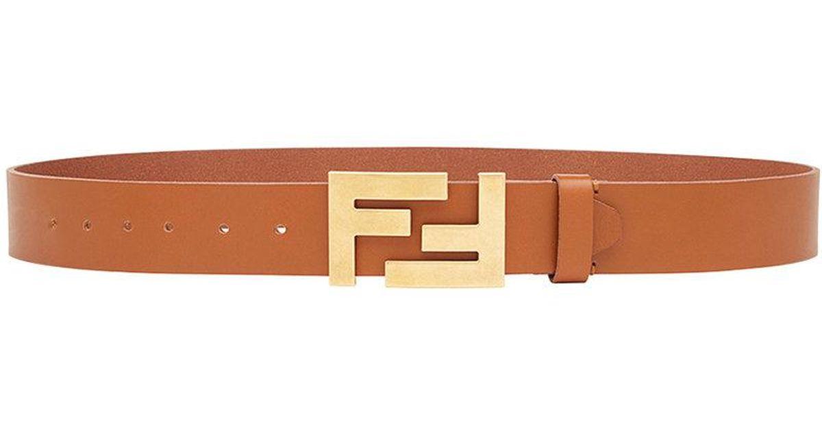 29d0593da32 Lyst - Ceinture à boucle logo Fendi pour homme en coloris Marron