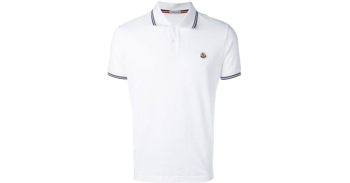 882111b5ce02 Lyst - Moncler Short Sleeve Polo Shirt in White for Men