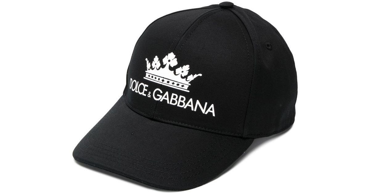 Dolce   Gabbana Hat With Visor And Logo in Black for Men - Lyst fda60cf8872