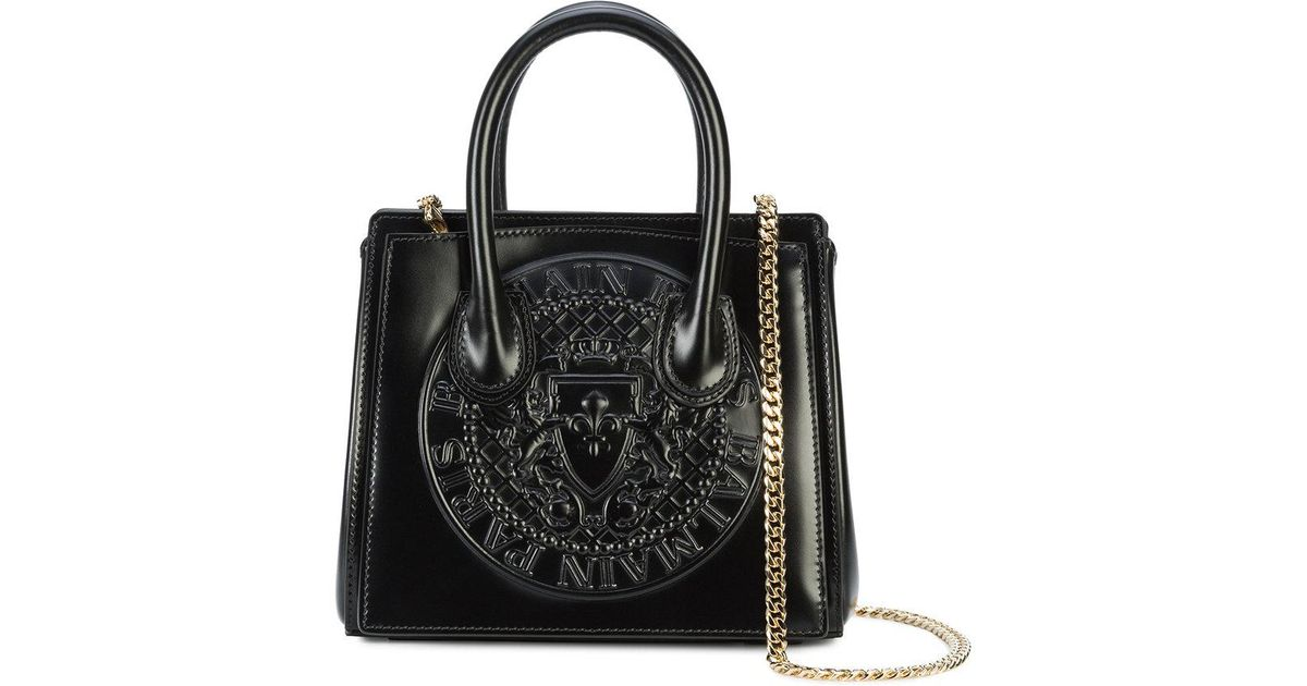 Outlet Fast Delivery Newest Online embossed logo tote bag - Black Balmain Discount Price Discount Best Wholesale hPZoZF