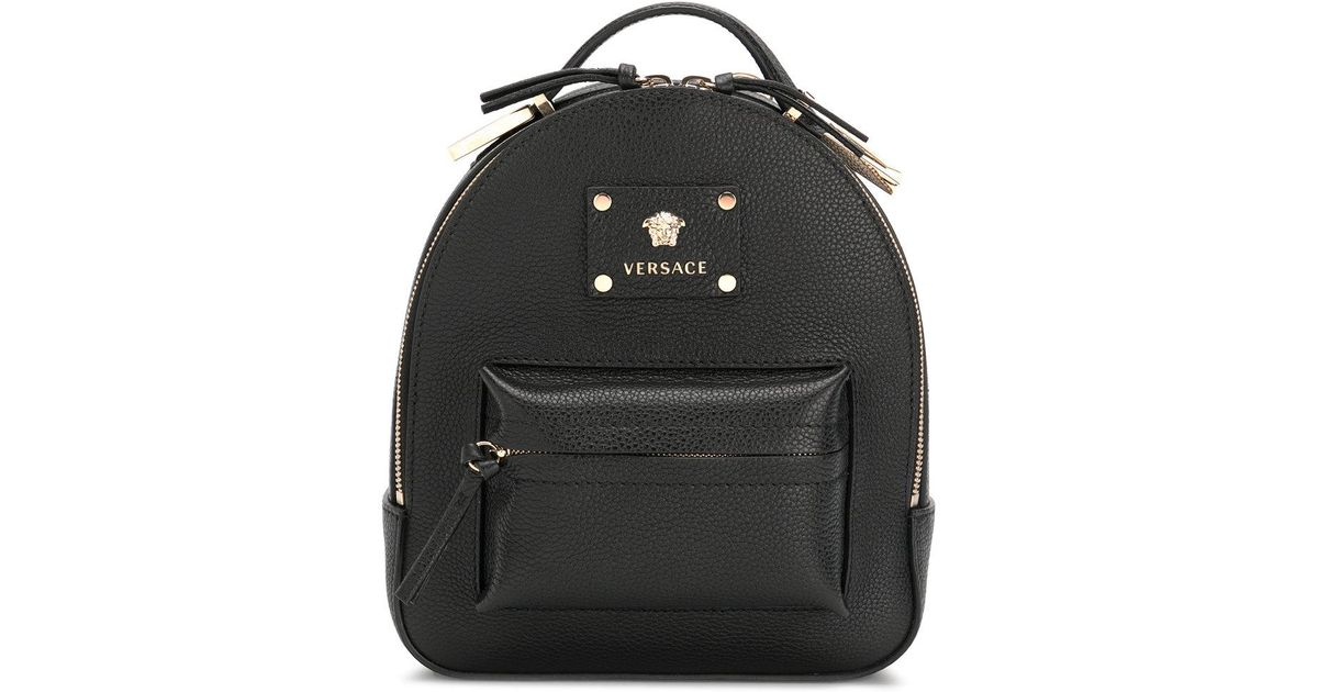 f43dded9bc8 Versace Medusa Palazzo Backpack in Black - Lyst