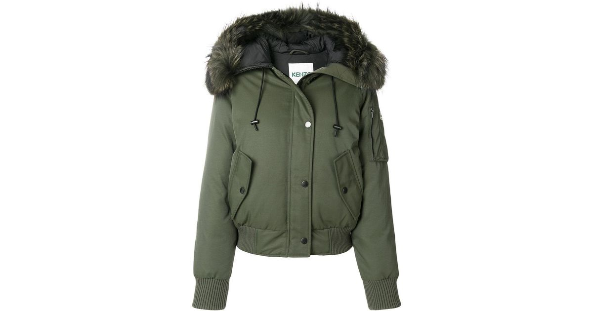 8de400442 KENZO Green Hooded Bomber Jacket
