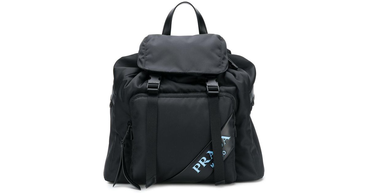 cdfeb833c400 Lyst - Prada Classic Backpack in Black