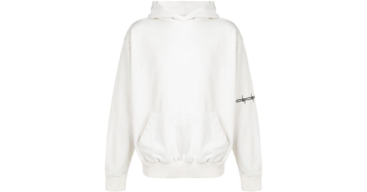 37adb2d1699 Warren Lotas Washed Oversized Bomber-fit Hoodie in White for Men - Lyst
