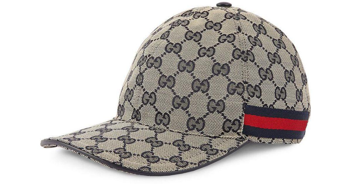 0f93726fcb7 Lyst - Gucci Gg Canvas Baseball Hat in Blue for Men