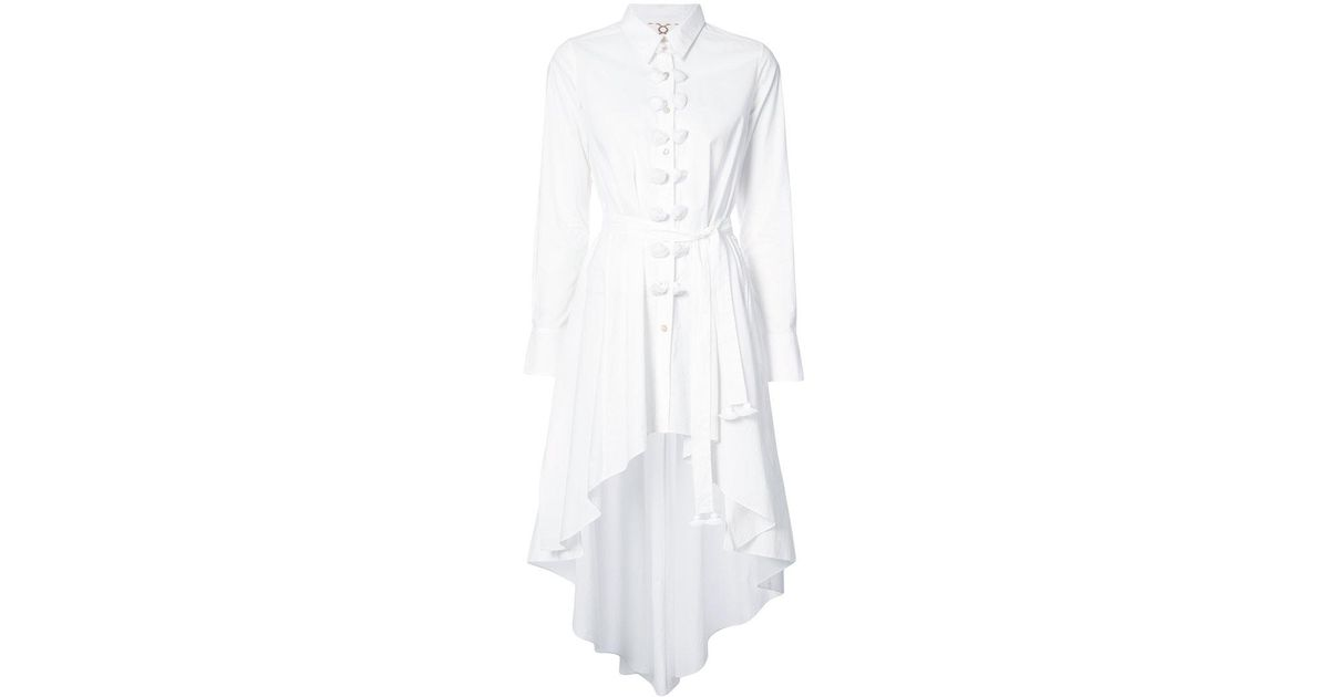 Marpessa asymmetric belted shirt - White Figue Clearance Marketable xNFDdvwmE