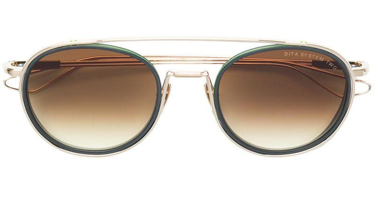round tinted sunglasses - Green Dita Eyewear hKBjnOT