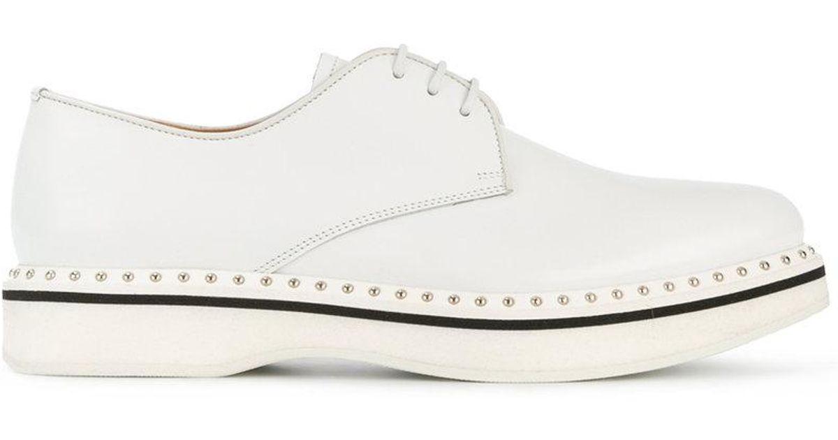 Tammi De L'église Chaussures Derby De Coin - Blanc etU6i