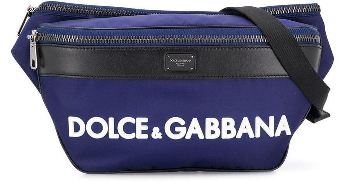 51d67d6d3 Sac banane à logo Dolce & Gabbana pour homme en coloris Blue