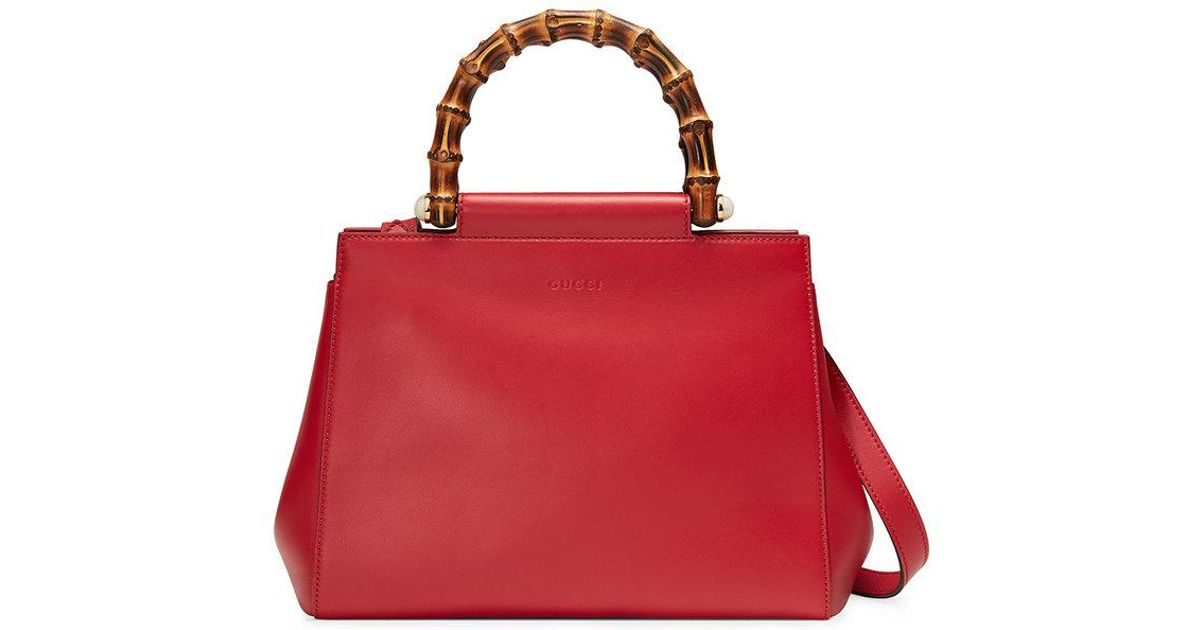 2ab28a542e3 Gucci Nymphaea Top Handle Bag in Red - Lyst