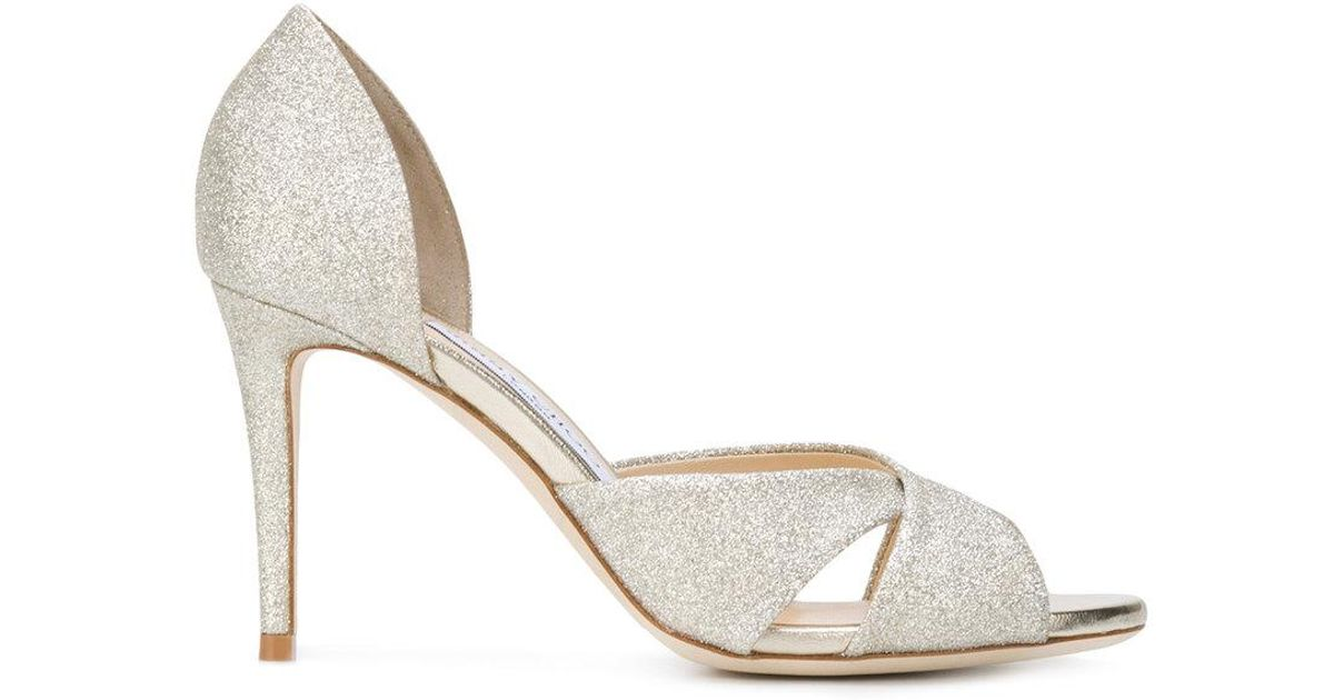 Jimmy choo Women's Lara 85 Glitter d'Orsay High-Heel Sandals 1RaCgc3vG