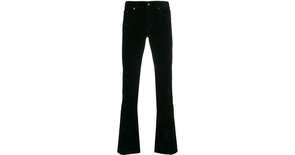 098f5902538 Saint Laurent Slim Fit Jeans in Black for Men - Lyst