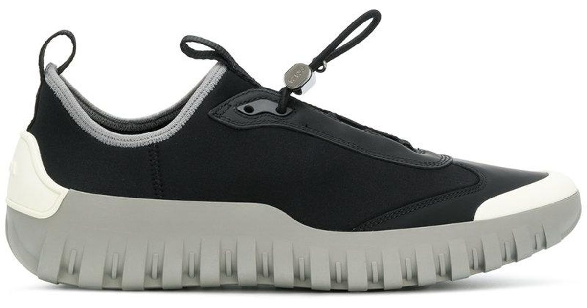 official sale discount up to 60% elegant in style Prada Black Neoprene Laceless Sneakers for men