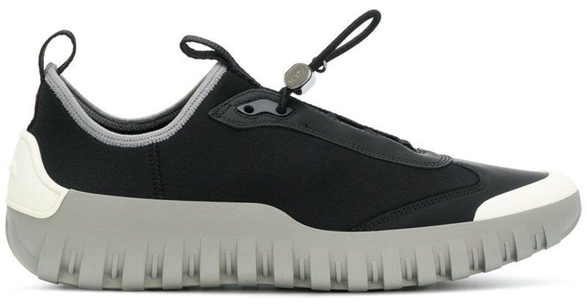 Sneakers Laceless Black Neoprene For Men Prada kwOX08nP