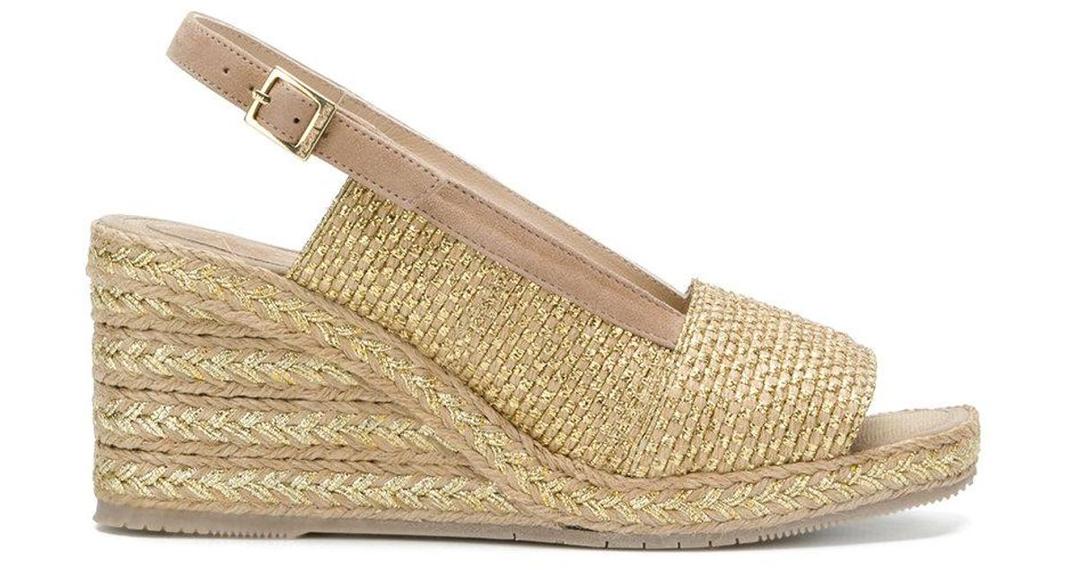 28000c84468c Lyst - Paloma Barceló Aladierno Wedge Sandals in Metallic