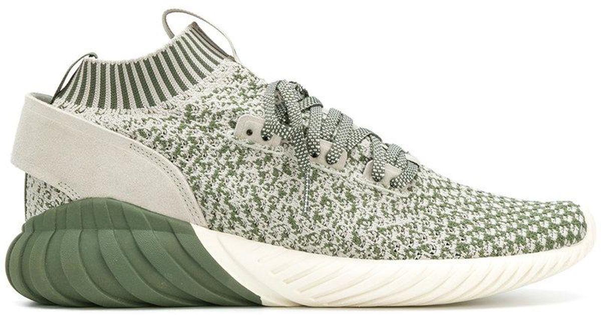 Adidas zapatilla en tubular Lyst Doom calcetín verde para hombres