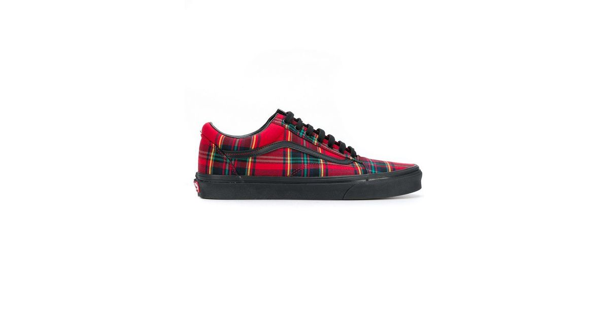 2f56bd90a76 Lyst - Vans Plaid Mix Old Skool Sneakers in Red for Men