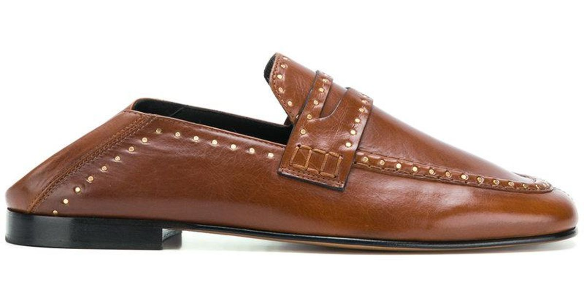 e5edd3945fd Isabel Marant Fezzy Loafers in Brown - Lyst
