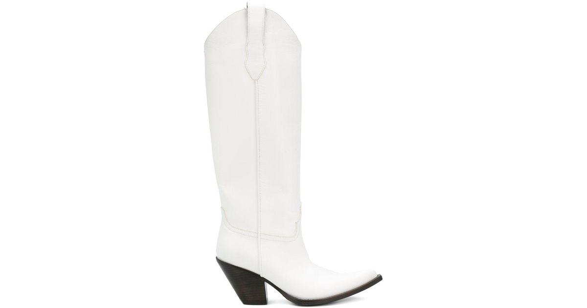 c866f89982b Maison Margiela White Knee-length Western Boots