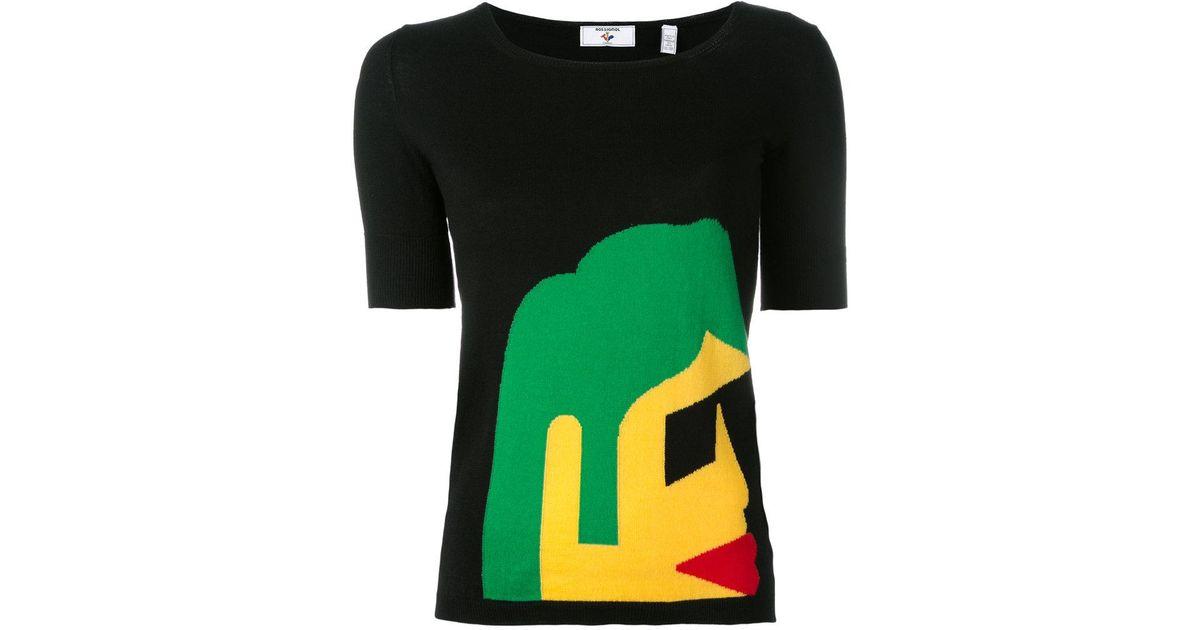 Kiss Kiss knitted T-shirt - Black Rossignol Cheap Online Store Best Place Online zCsEtRw