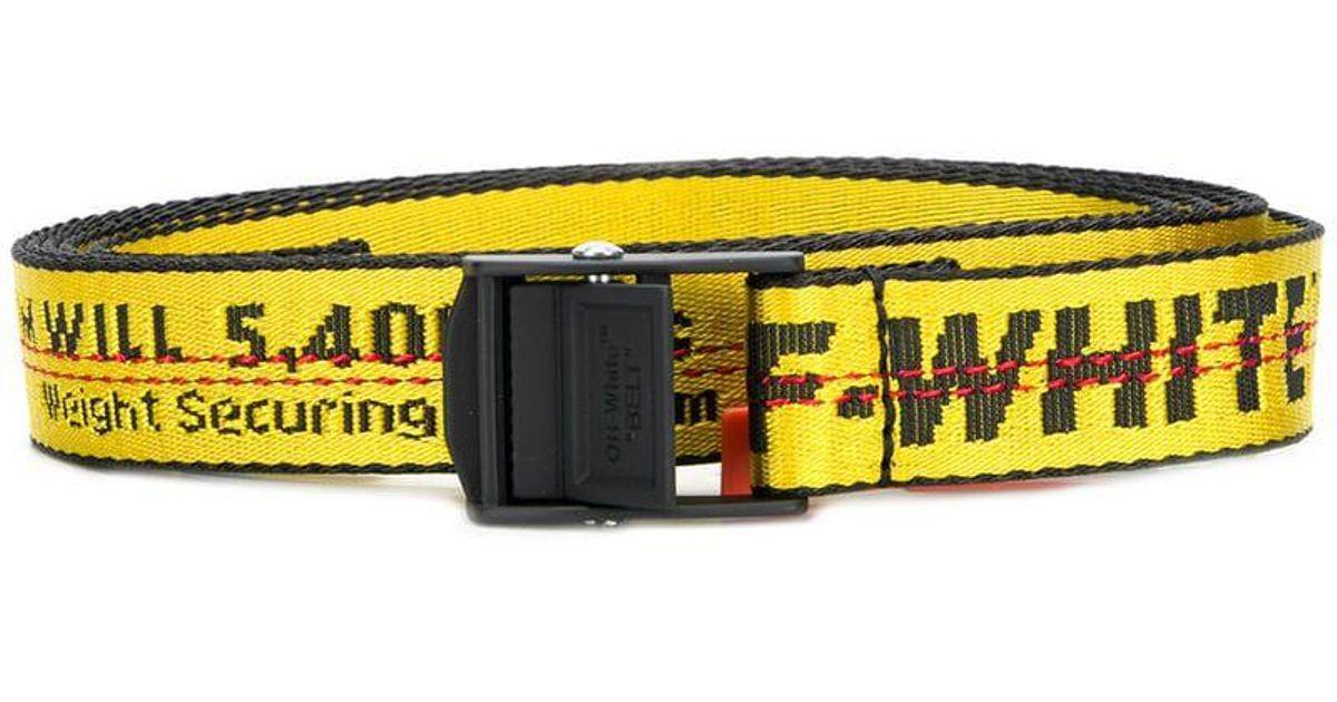 Lyst - Mini ceinture à logo Off-White c o Virgil Abloh pour homme en coloris  Jaune 8b16bc1797c