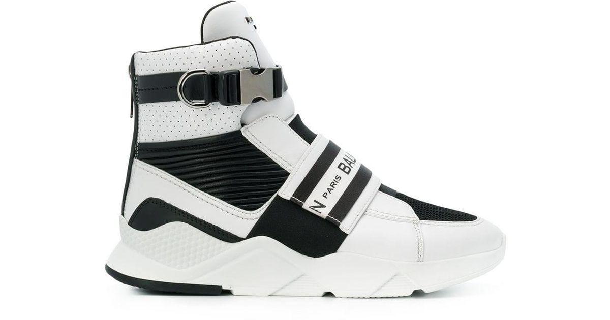 Sneakers Balmain Top Netzeinsätzen Lyst White Mit High For Men SzVUqMpG