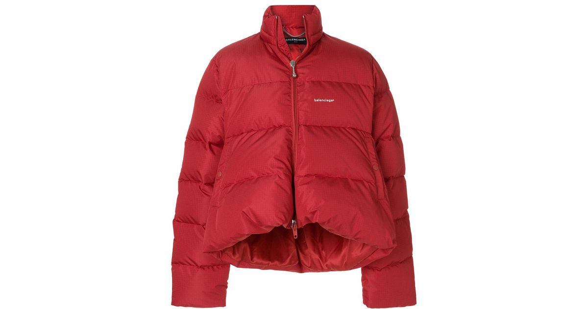 9b55b02005a5 Balenciaga C Shape Doudoune in Red for Men - Lyst